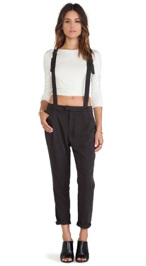 womens trousers with suspenders