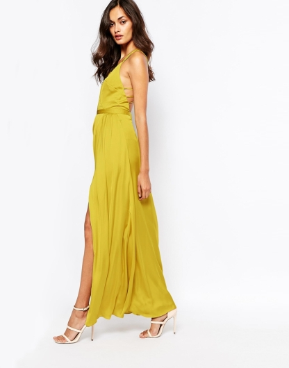 gold yellow maxi dress
